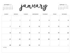 Need a blank calendar template? Here it is! This works