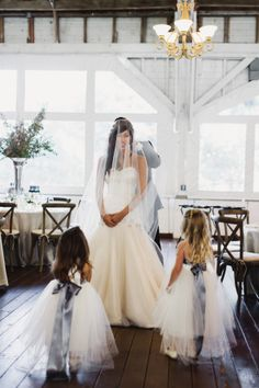 Bride with Flower Girls | photography by http://photography.michelemwaite.com/