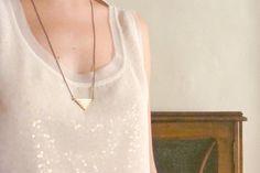 Geometric necklace Chevron necklace Bib par faunayflorashop sur Etsy, $20,00