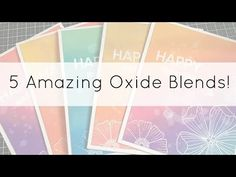 (48) VIDEO HOP! Favourite Distress Oxide Combos + Create a Smile Release - YouTube