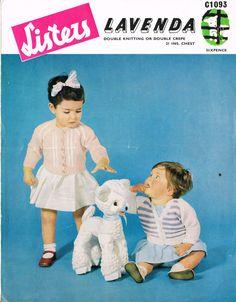 Lavenda 1093  baby cardigan vintage knitting pattern by Ellisadine, £1.15