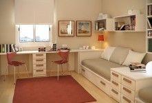 Kids Room Orange Soft Carpet On Wooden Laminate Flooring Chairs Student Desk…