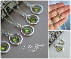 Infinity Necklaces Bridesmaid Necklaces