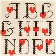 cross stitch fonts