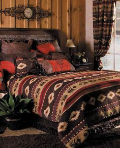 Cimarron Collection Bed Set - Queen Size - Western Bedding - Housewares