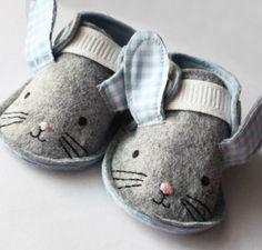 Handmade Bunny Crib Shoes!