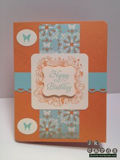 Stampin' Up!, Birthday, Elementary Elegance, Everyday Enchantment, Punches