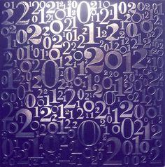 """Cartes de voeux - modèle """"Manhattan"""" 2012 (argent à chaud sur papier couleur) © COPY-TOP"""