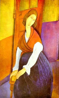 Portrait of Jeanne Hébuterne ~ Amedeo Modigliani
