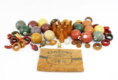 Vintage Toy Lot: Pool Balls Ping Pong Balls Mini Bowling