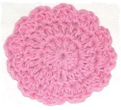 """""""Flower Face Scrubbies"""" - made with Sugar-n-Cream cotton yarn.  Pattern at Erin Olivia Designs - easy!  Thanks, ladies!"""
