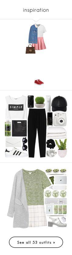 """inspiration"" by alniki-putri ❤ liked on Polyvore featuring rag & bone, MANGO, adidas Originals, Gucci, Monki, Shiseido, Native Union, Korres, Lux-Art Silks and 3.1 Phillip Lim"