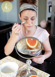 The Lovely Cupboard: DIY: Facial Mask - orange juice and baking soda, to help prevent acne