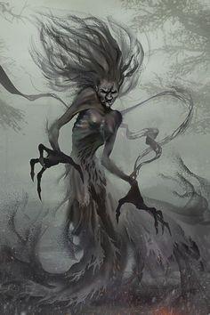 Morbid Fantasy • Banshee – horror concept by Gore Shiring