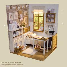 Nerea Pozo Art♥ Handmade miniature diorama NATURE ZAKKA BEDROOM ♥