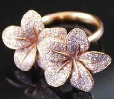 Pink Diamond flower Ring from incantato line, designer mia pezzi. 15000$ price tag. Beautiful.