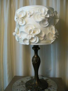Hand made Shabby chic lamp shade by alaVeronica on Etsy, $68.00