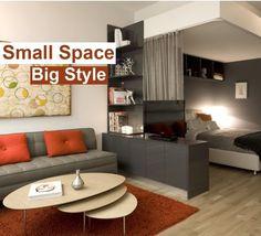 Small Space Contemporary Interior Design Ideas.  #SmallSpaceInteriors #SmallSpaceDecoration #SmallSpaceFurniture #SmallSpaceIdeas