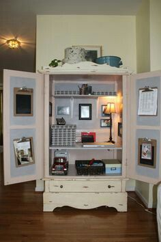 I Donu0027t Like This One Completely But The Idea Of Transforming My Computer  Desk Armoire Into Our Command Center Is Awesome!