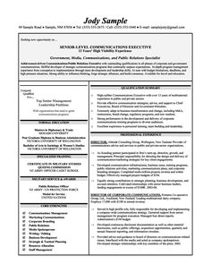 assistant principal resumes senior level communications executives resume sample - Senior Executive Resume Examples