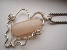 Valentine Pink Quartz Necklace by BrookeAlene on Etsy, $29.00