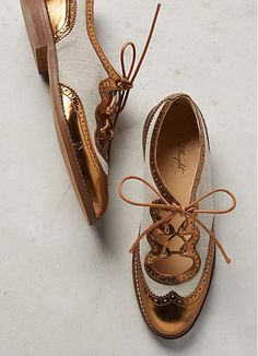 bronze trim oxfords//