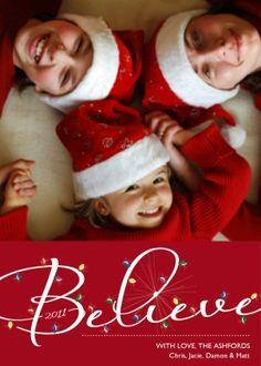 @Paula Dunn - Christmas Lights Photo Card -cute idea for your boys this year!! :)