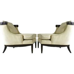Pair Of Elegant Lounge Chairs By Erwin Lambeth For Tomlinson   From a unique collection of antique and modern lounge chairs at https://www.1stdibs.com/furniture/seating/lounge-chairs/