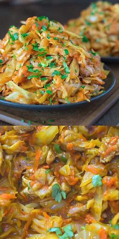 This succulent Cabbage and Chicken is hearty, filling, and so delicious. Just a few ingredients and about 15 minutes of active cooking time make up this amazing dinner. This is my Best Recipe yet! Healthy Chicken Recipes, Healthy Dinner Recipes, Diet Recipes, Vegetarian Recipes, Cooking Recipes, Comida India, Health Dinner, Le Diner, Cabbage Recipes