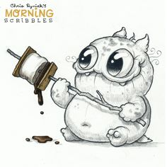 Chris Ryniak – morning scribbles – cute and funny art Chris Ryniak – morning scribbles – cute and funny art Cute Monsters Drawings, Cartoon Monsters, Little Monsters, Cartoon Art, Animal Drawings, Cute Cartoon, Cute Drawings, Drawing Sketches, Monster Sketch