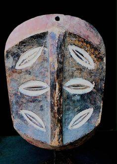 Fine Tribal Rare Kwele With 6 Eyes Mask Gabon
