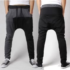 New Fashion Men s Casual Sports Trousers Dance Harem Long Pants Baggy  Jogging Sweatpants Style 340762f1a38