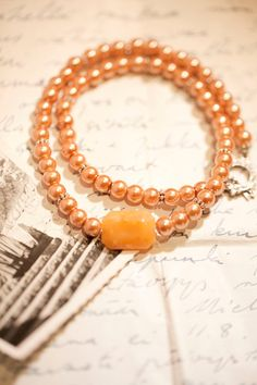 Ombre Glass Pearls Necklace  Bali silver toggle by WhiteLilyDesign, $25.00; this color is subtly rich, so pretty.