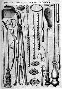 Various instruments for the eyes collected from ancient physicians and surgeons / N. de Louvain, 1593.