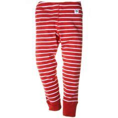 Classic red/white stripe leggings for newborn, baby, toddler or child.