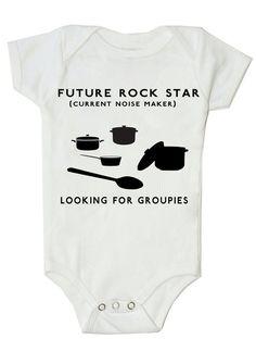 Funny Baby Onesie Funny Bodysuit Future Rock Star on Etsy, $14.99