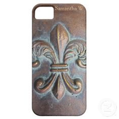 Fleur De Lis, Aged Copper-Look Printed iPhone 5 Covers...Nooooo, I don't have an iPhone 5