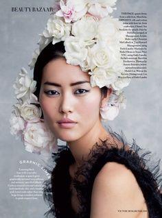 Liu Wen Stuns in Evening Ready Makeup Looks for BAZAAR UK December 2015 [Beauty]