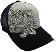 Cap Couture Women's Baseball Trucker Quilted Fleur de Lis Hat Cap Couture http://www.amazon.com/dp/B00P8B0IMG/ref=cm_sw_r_pi_dp_qDRwub1K12513