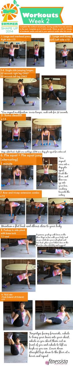 Summer Shape Up 2014 Week 2 Workout :: The Fitnessista