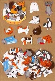 sticker sack pet cats Japan kawaii
