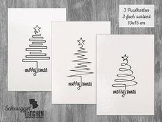 my work: Weihnachtsartikel Postcard, Christmas, greeting card set of 3 mixed from Schnuggellaedchen Watercolor Christmas Cards, Christmas Card Crafts, Homemade Christmas Cards, Christmas Drawing, Christmas Greeting Cards, Christmas Art, Christmas Greetings, Homemade Cards, Tarjetas Diy