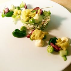 Dungeness crab/ tomatillos & corn - The ChefsTalk Project