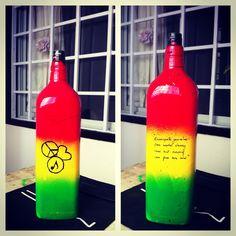 DIY vases-Rasta themed