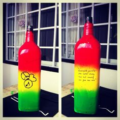 DIY vases-Rasta themed