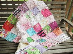 If I were actually crafty -> Memory Rag Quilts, made from your baby clothing, ALL NATURAL, heirloom, fresh modern handmade Baby Rag Quilts, Baby Clothes Quilt, Sewing Crafts, Sewing Projects, Stuffed Animal Storage, Stuffed Animals, Baby Memories, Quilt Making, Baby Love