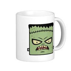 Frankenstein Mug #frankenstein  #halloween #favors #essentials #mugs #coffee #party