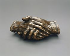 """"""" Harriet Goodhue Hosmer, Clasped Hands of Robert and Elizabeth Barrett Browning, 1853 (source). One of America's first professional female sculptors, Harriet Hosmer met Robert and Elizabeth Barrett. Sculpture Art, Sculptures, Sculpture Ideas, Elizabeth Barrett Browning, Amanda Palmer, Robert Browning, Metropolitan Museum, It Cast, Bronze"""