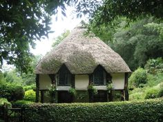 Gamekeeper's Cottage in Cockington Village, Devon, England