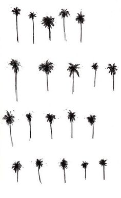 Ideas For Palm Tree Tattoo Finger Tatoo Small Palm Trees, Small Palms, Palm Tree Drawing, Palm Tree Sketch, Willow Tree Tattoos, Coconut Palm Tree, Tree Sketches, Palm Tree Print, Tree Illustration